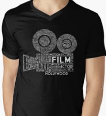Film Camera Typography - White Men's V-Neck T-Shirt