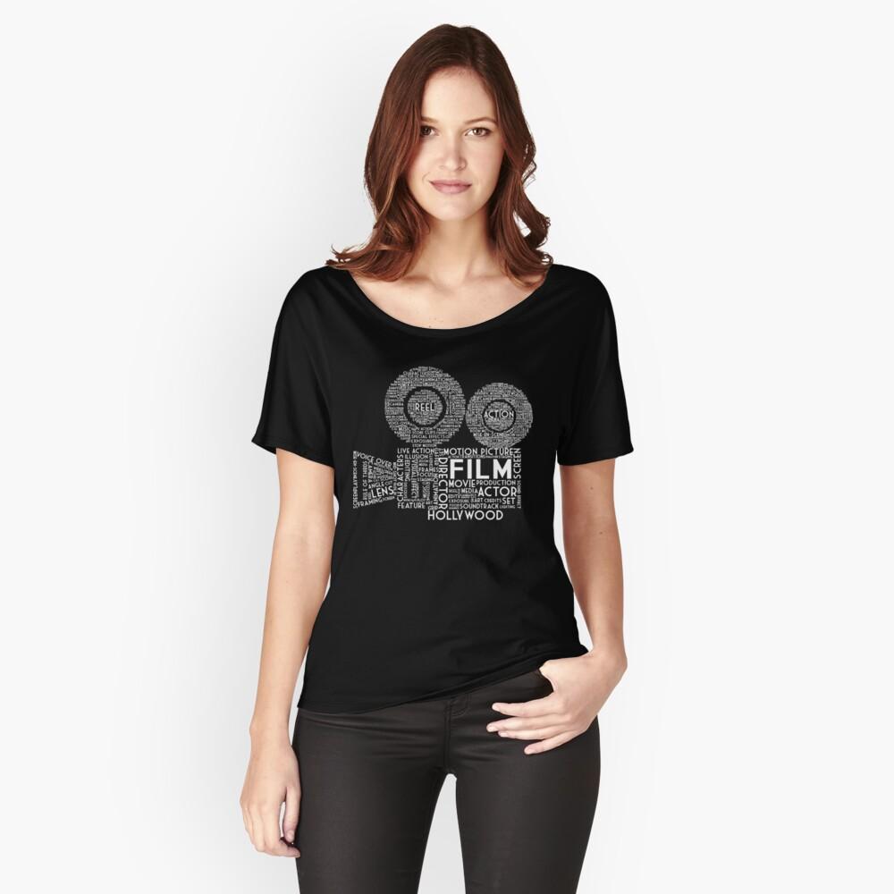 Film Kamera Typografie - Weiß Loose Fit T-Shirt