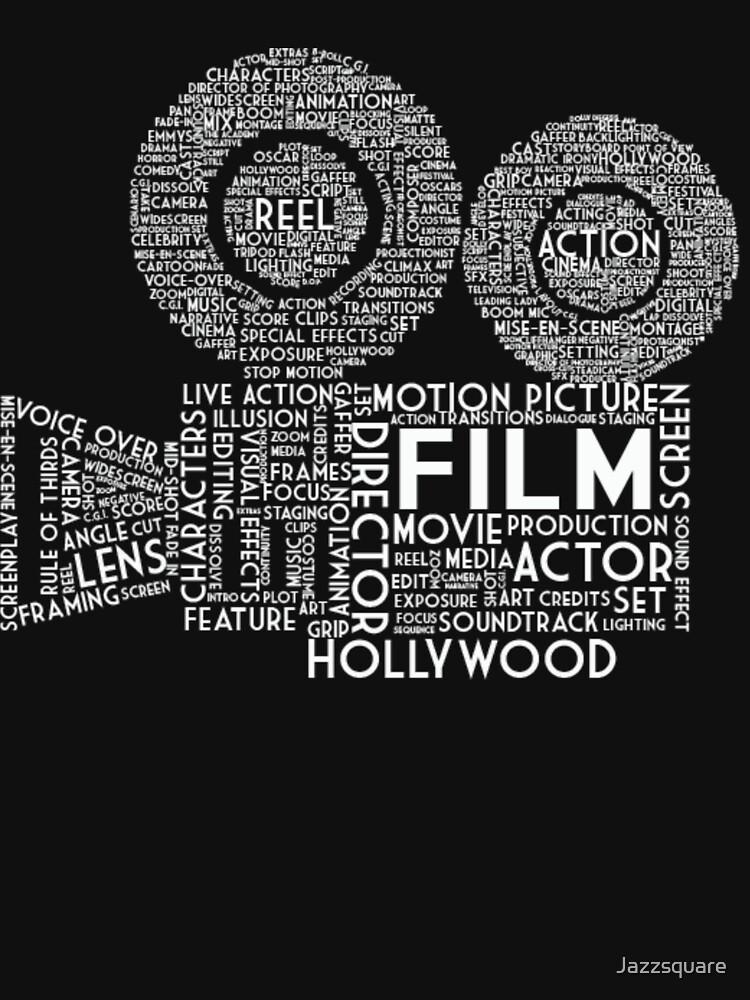Film Kamera Typografie - Weiß von Jazzsquare