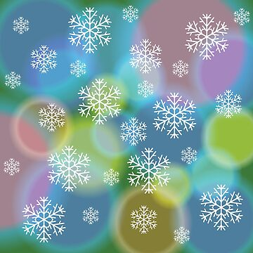 abstract snow background by valeo5