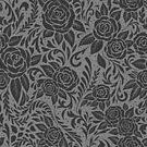 Floral Tile Pattern - Grey 2 by RainbowFoxy