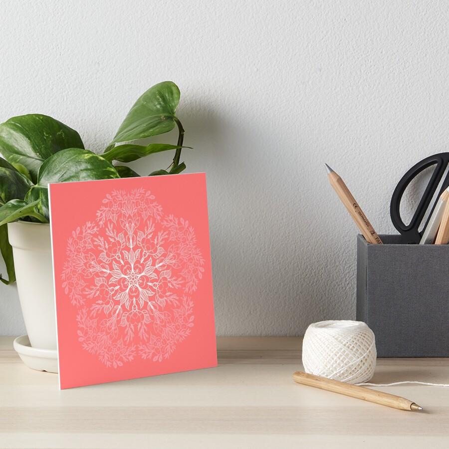 cherry blossom mandala- Coral sakura by saraknid