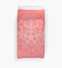 cherry blossom mandala- Coral sakura Duvet Cover