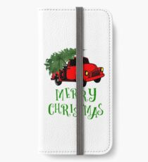Truck with Christmas Tree - Merry Christmas iPhone Wallet/Case/Skin