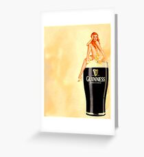 irish stout pinup girl Greeting Card