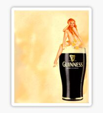 irish stout pinup girl Sticker