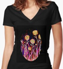 Melody of Flowers Fitted V-Neck T-Shirt
