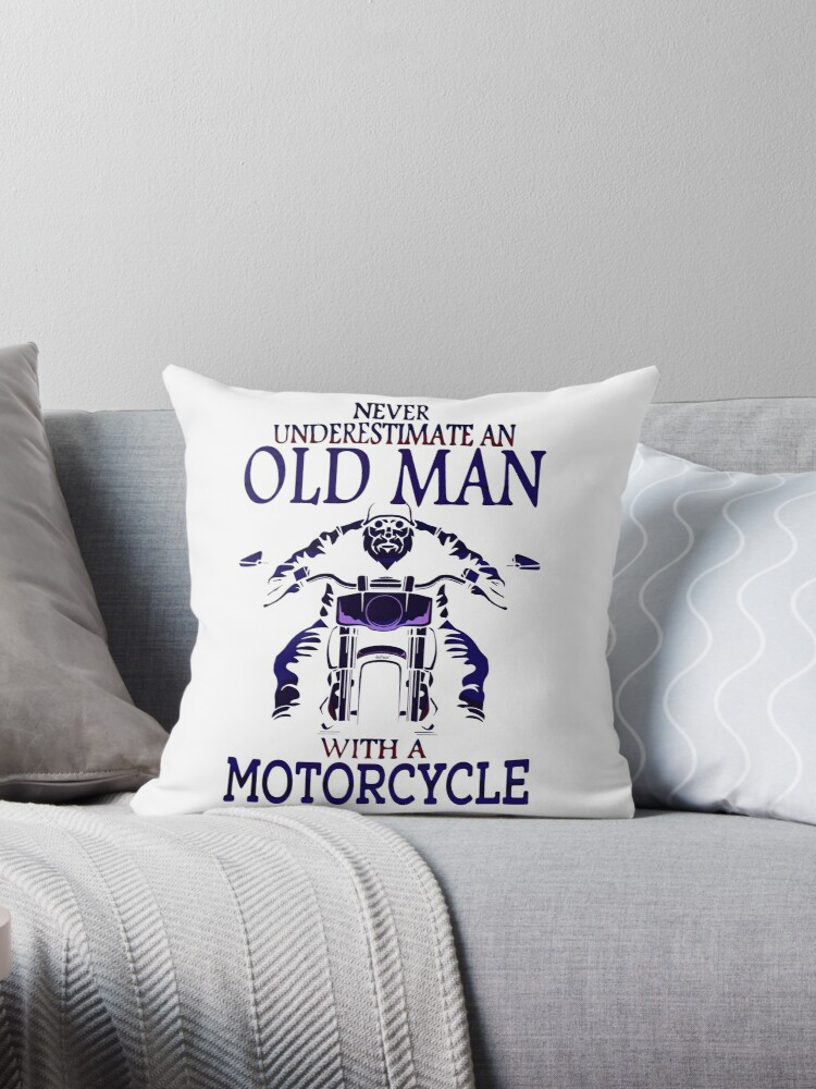 Old Guy on a Motorcycle by kj dePace'
