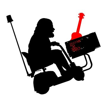 Rock in a Home Depot Electric Cart with a Ukulele by Kowulz