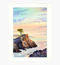 Lone Cypress Tree Pebble Beach California Art Print