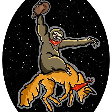 Sloth Rodeo by piedaydesigns
