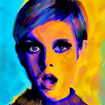 Twiggy Oil Painting  by NoraMohammed