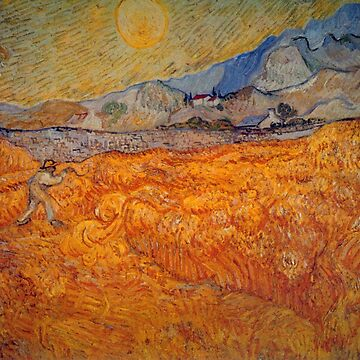 'Reaper' by Vincent Van Gogh (Reproduction) by RozAbellera
