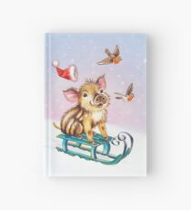 Christmas piglet by Maria Tiqwah Hardcover Journal