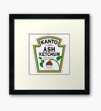 ash ketchum Framed Print
