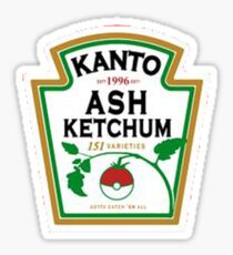 ash ketchum Sticker
