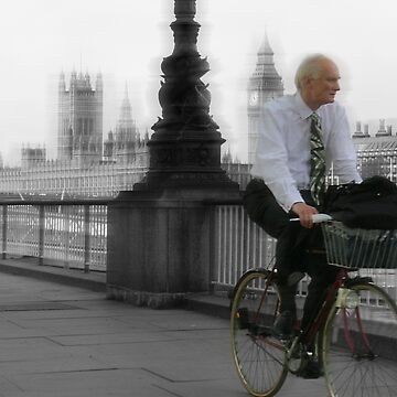 Riding to work, London by aDanidesign