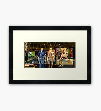 Busy Street Fashion  Framed Print