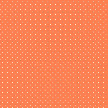 Living Coral Color Polkadots  by Gravityx9