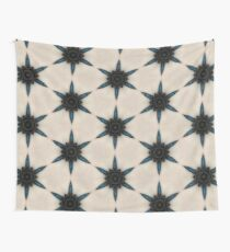 Tan, Brown and Teal Star Pattern Wall Tapestry
