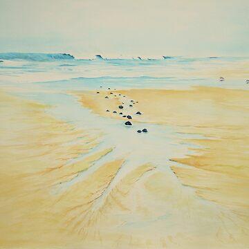 Rocks on the Beach by Ian Shiel by Ruckrova