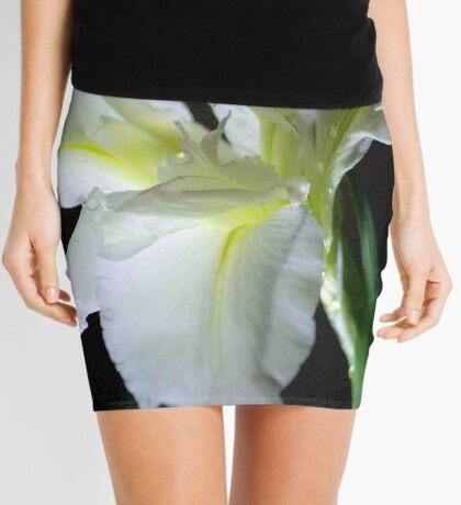 SIMPLICITY - THE WATER IRIS IN WHITE - WATER IRIS Mini Skirt