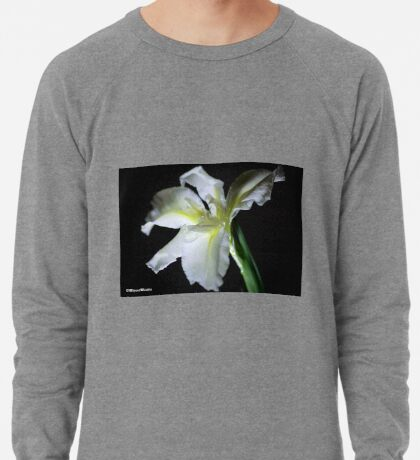 SIMPLICITY - THE WATER IRIS IN WHITE - WATER IRIS Lightweight Sweatshirt