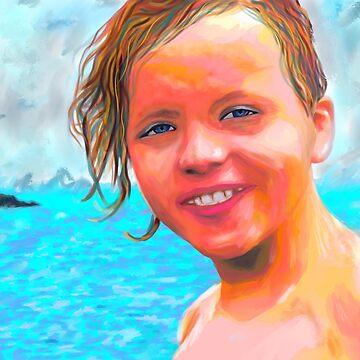 Kid Custom Portrait  by NoraMohammed