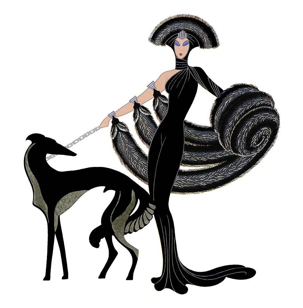Art Deco Borzoi by Happy Dog Swag