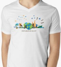 Which Planet Are You On? - version 3 Mens V-Neck T-Shirt