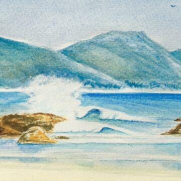 Waves on Sisters beach by Ian Shiel by Ruckrova