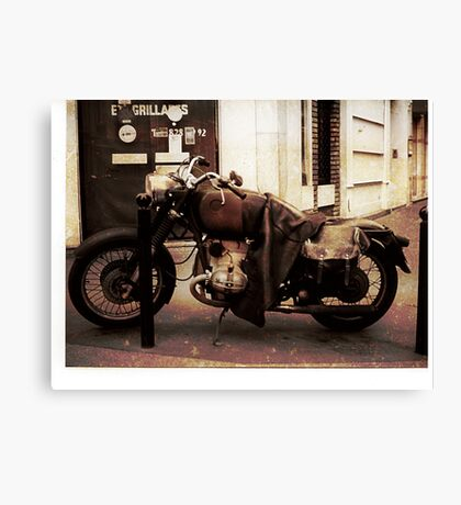 Motorcycle in Texico Canvas Print