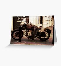 Motorcycle in Texico Greeting Card