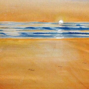 Tracks on Sisters Beach by Ian Shiel by Ruckrova