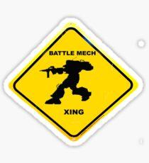 mech X-ing Sticker
