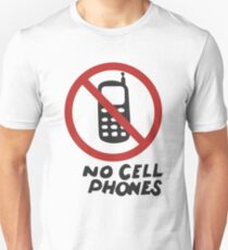 Luke's Diner No Cell Phones  Slim Fit T-Shirt