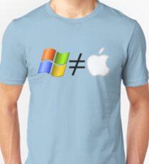 PC not equal to Mac T-Shirt