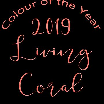LIVING CORAL TYPOGRAPHY  - Standard English - PANTONE COLOUR OF THE YEAR 2019 by ozcushionstoo