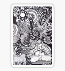 Zentangle Longboarder Sticker