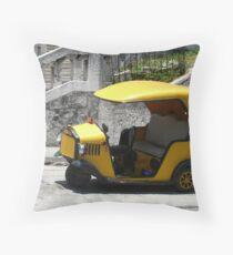 Coco taxi, Havana, Cuba Throw Pillow