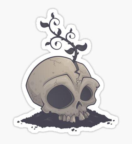 Skull Garden Sticker