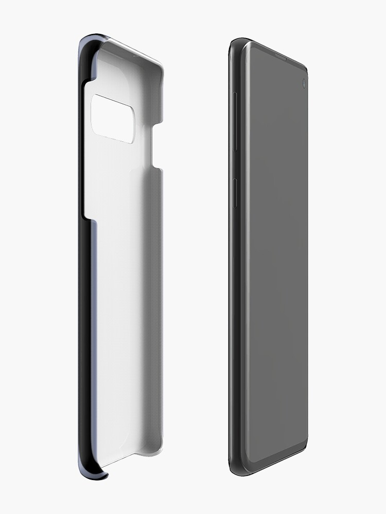 Alternate view of Cool Gray and Black Vertical Stripes Cases & Skins for Samsung Galaxy