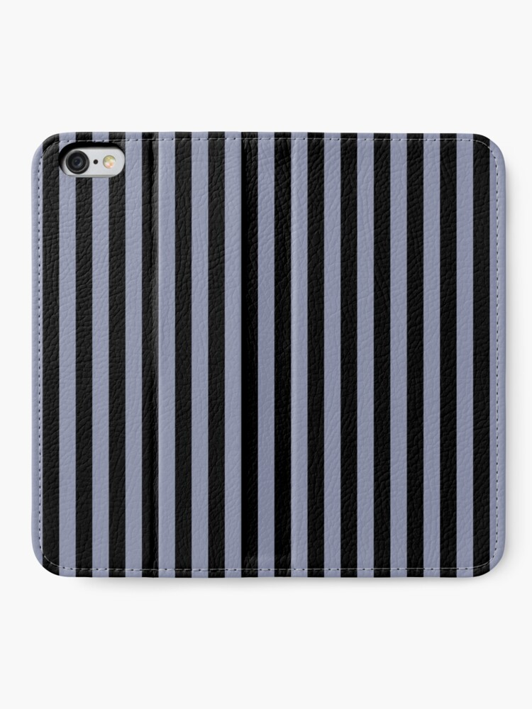 Alternate view of Cool Gray and Black Vertical Stripes iPhone Wallet