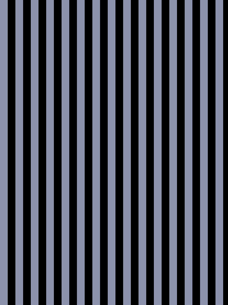 Cool Gray and Black Vertical Stripes by ColorPatterns