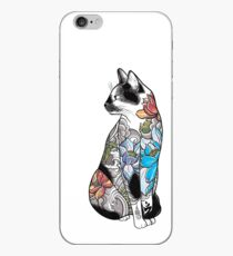 Vinilo o funda para iPhone Gato en Lotus Tattoo