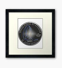 Q'Anon dollar coin Framed Print