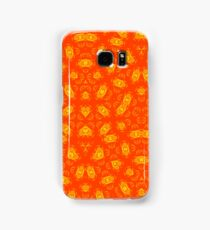 Red Yellow abstract pattern Samsung Galaxy Case/Skin