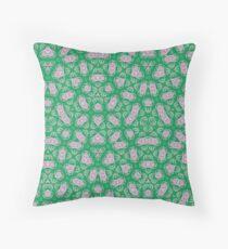Green Modern Abstract Pattern Throw Pillow