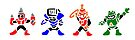 Megamans 4 by Adam Heffler