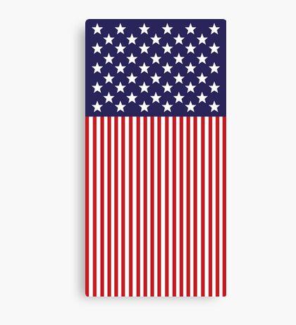 Stylized American Flag Canvas Print